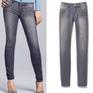 Cabi | Skinny Jeans Gray Faux Zipper Pockets